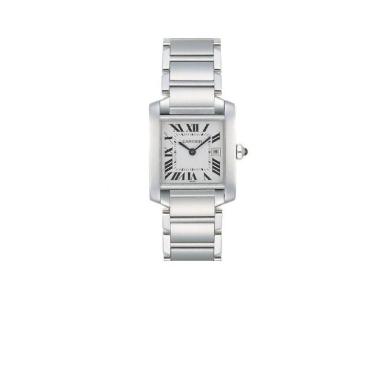 Cartier Tank Francaise Series Unisex Wat 55315 1