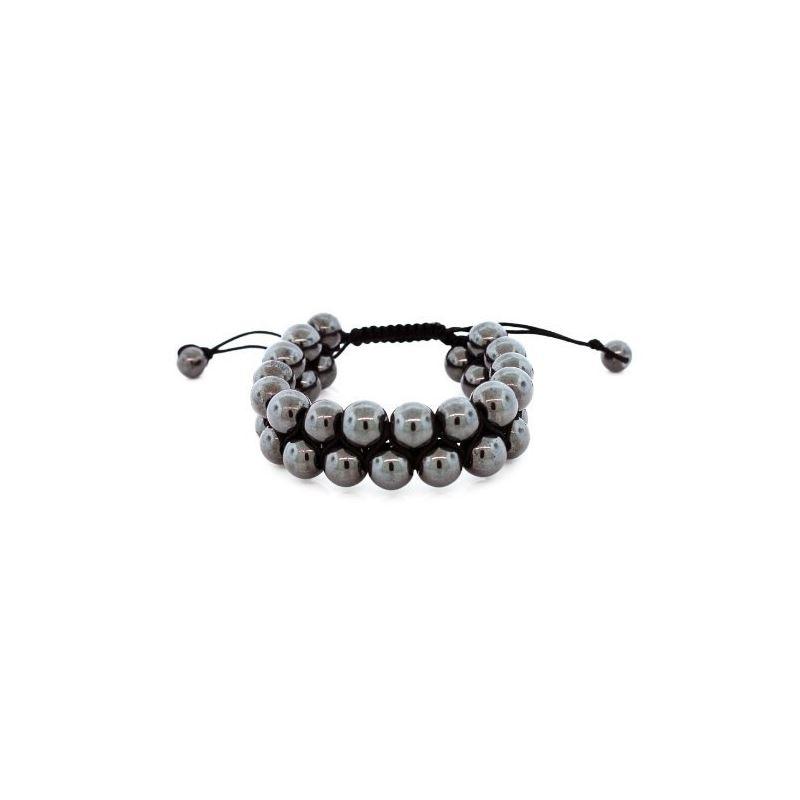 Two Row Black Heavy Steel 30 Beads 10mm  81059 1