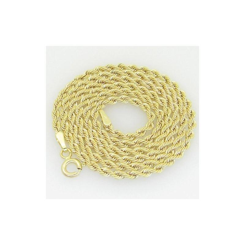 10K Yellow Gold rope chain GC15 61566 1