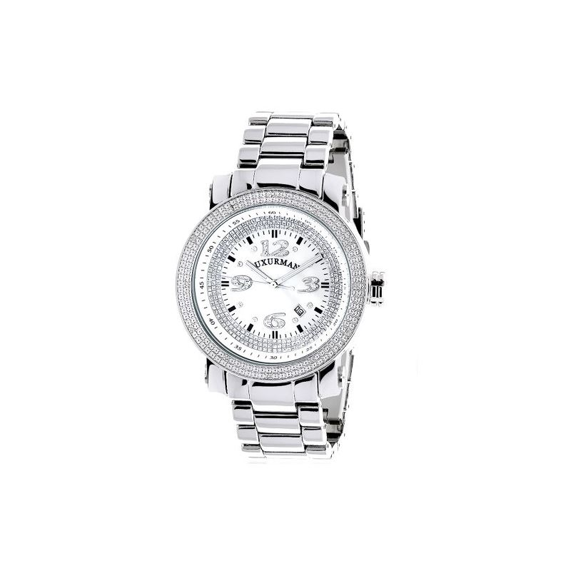 Mens Diamond Watch 0.12 ct Iced Out Luxu 90881 1