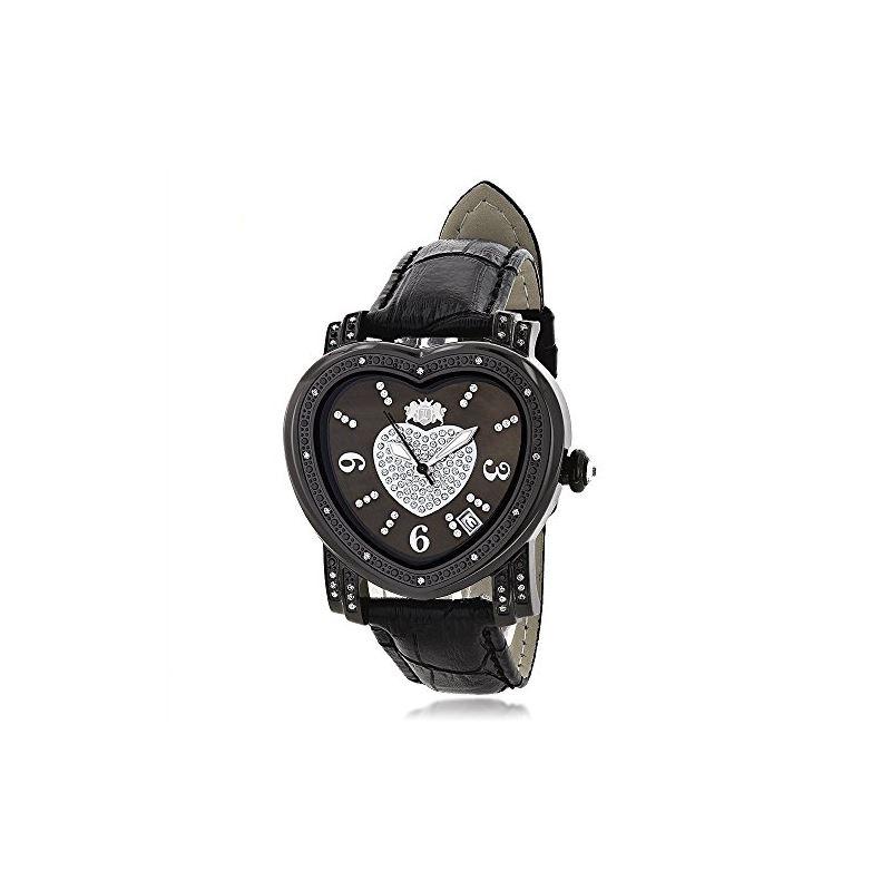 Luxurman Ladies Diamond Heart Watch 0.25 90212 1