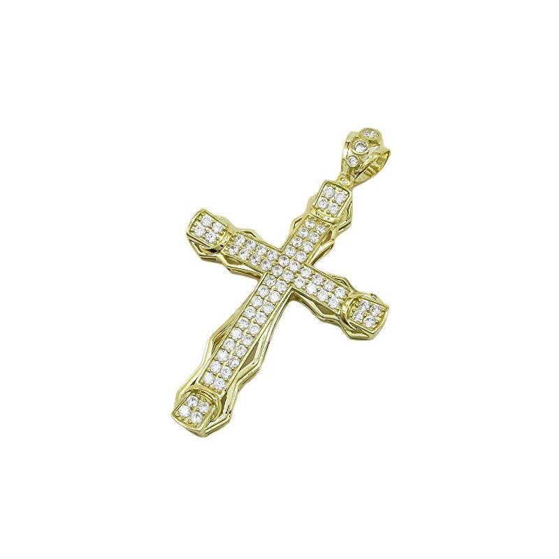 10K Yellow Gold unisex cross ASVJ65 62971 1
