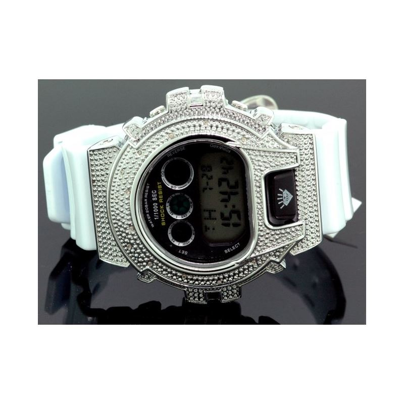 Ice Plus Mens Diamond Shock Style Watch  27772 1