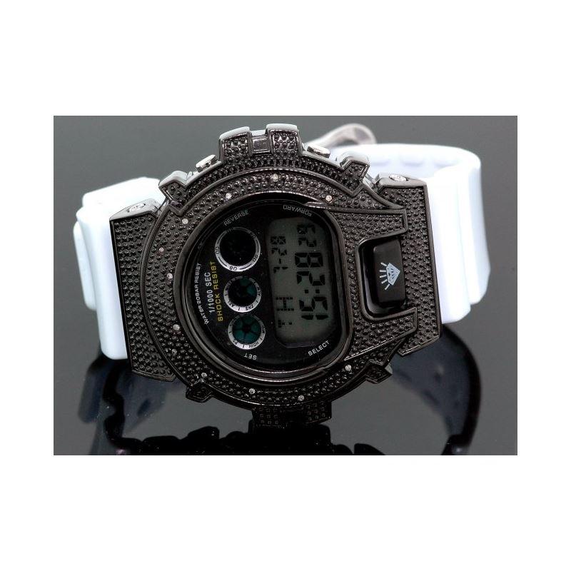 Ice Plus Mens Diamond Shock Style Watch  27766 1