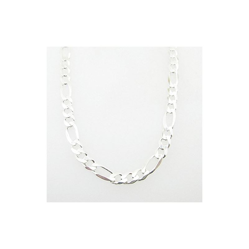 Silver Figaro link chain Necklace BDC69 79609 1
