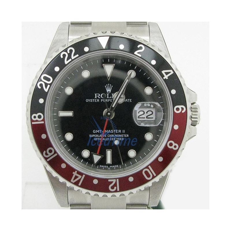 """Rolex GMT Master II Black Dial """"""""Coca Co 53967"
