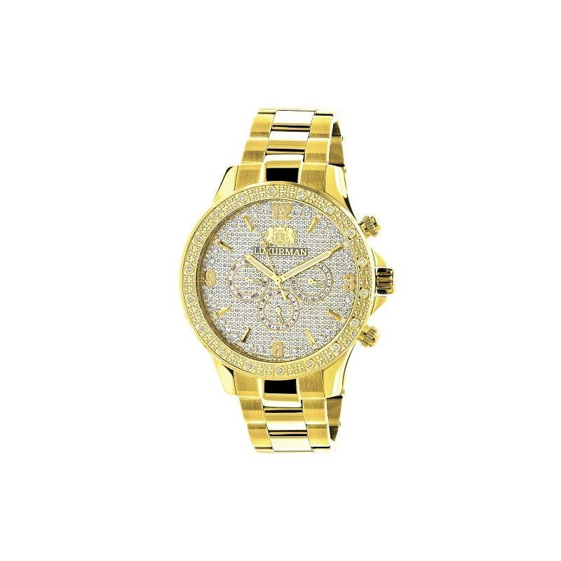 Luxurman Liberty Mens Genuine Diamond Wa 90246 1