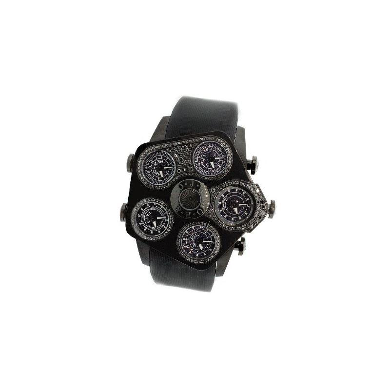 Jacob Co Jumbo Grand JGR5-26 Black PVD 2.15Ct Blac