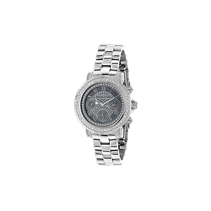 Luxurman Mens Genuine Diamond Watches: P 90172 1
