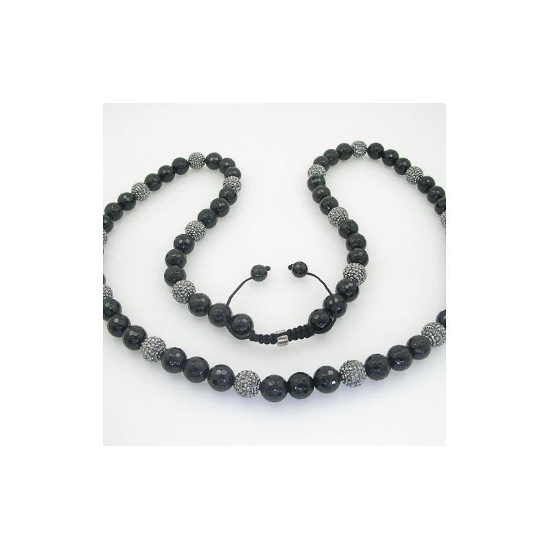 Mens Beaded Rosary Chain Crystal Gemston 78633 1