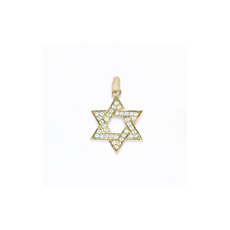 14K Gold Star Of David Pendant P56 64431 1