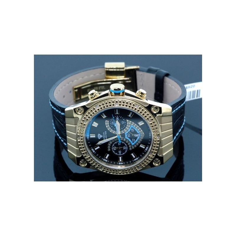 Aqua Master Mens Yellow Gold Diamond Wat 54575 1
