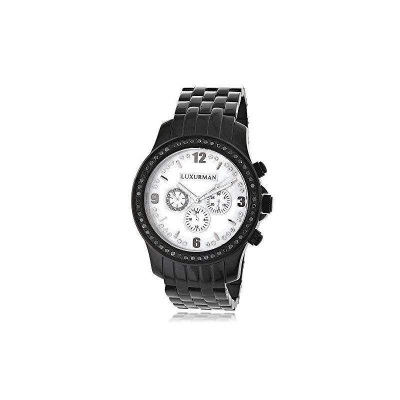 Genuine Mens Black Diamond Watch by Luxu 89611 1