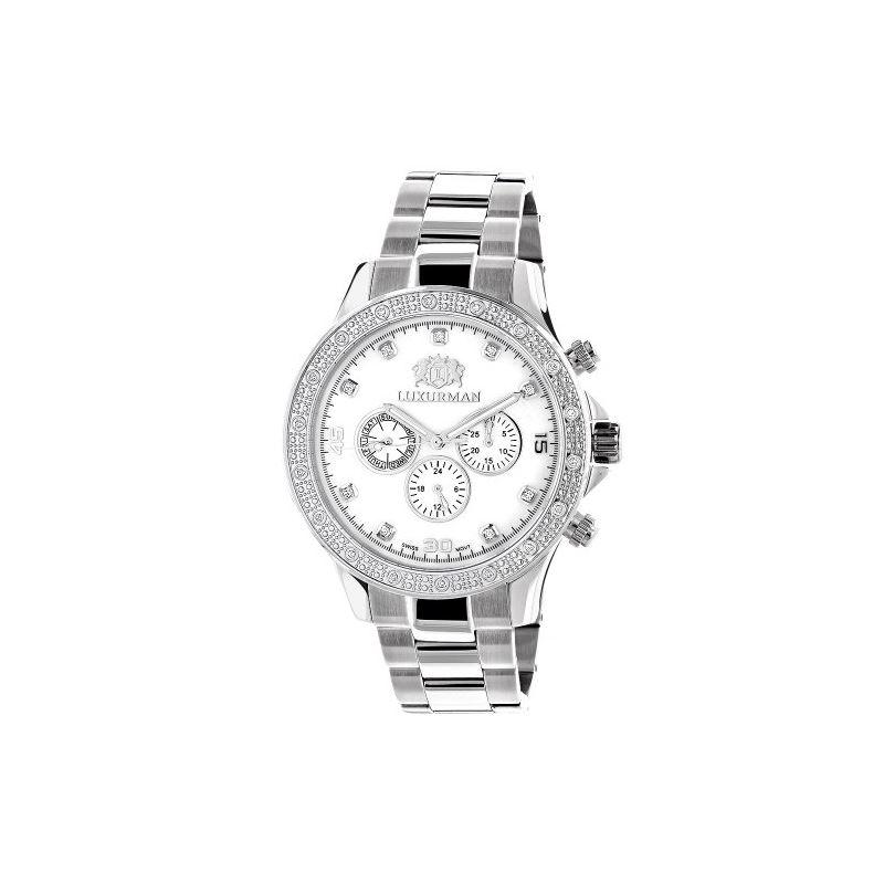 Luxurman Mens Real Diamond Watch 0.2ct W 90251 1