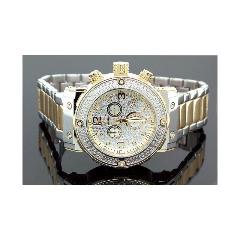 Aqua Master Mens Diamond Two Tone Watch  28059 1