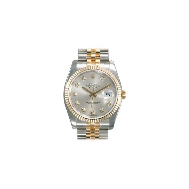 Rolex Datejust Silver Diamond Dial Jubil 53801 1